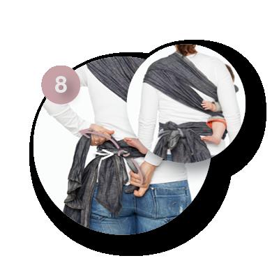 Mei Tai heup dragen | ByKay instructies
